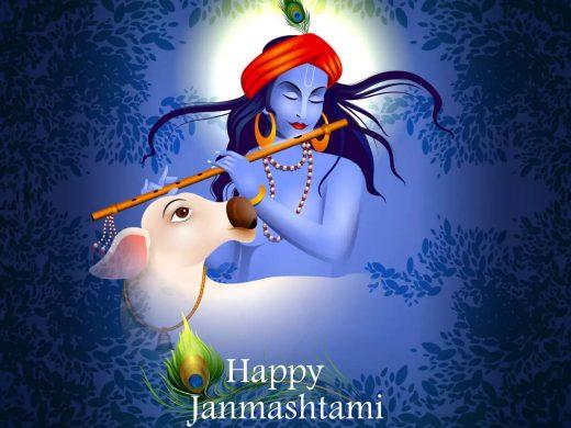 2 Line Happy Janmashtami Status in Hindi 2021